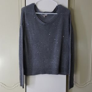 Banana Republic gray sparkly sweater